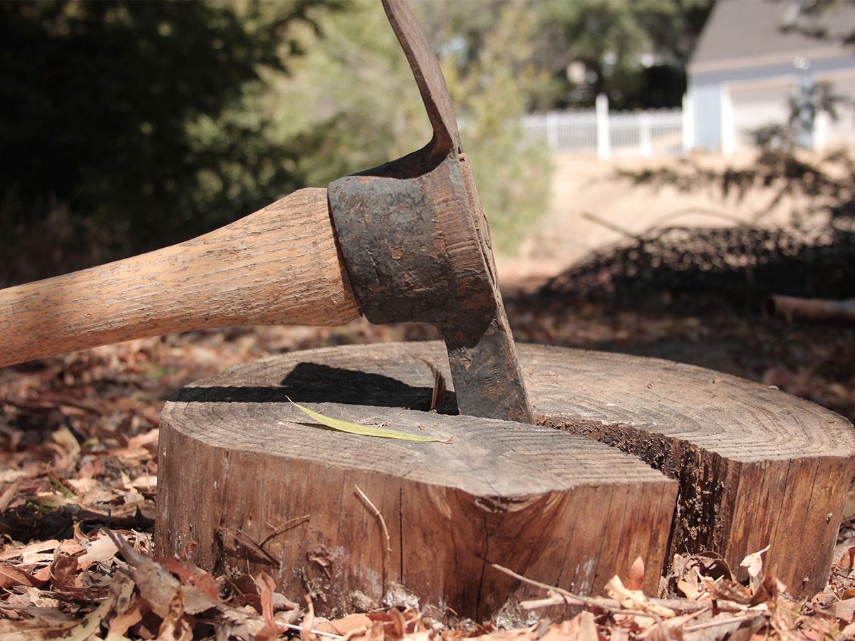chop wood for wood burning fireplaces homezada