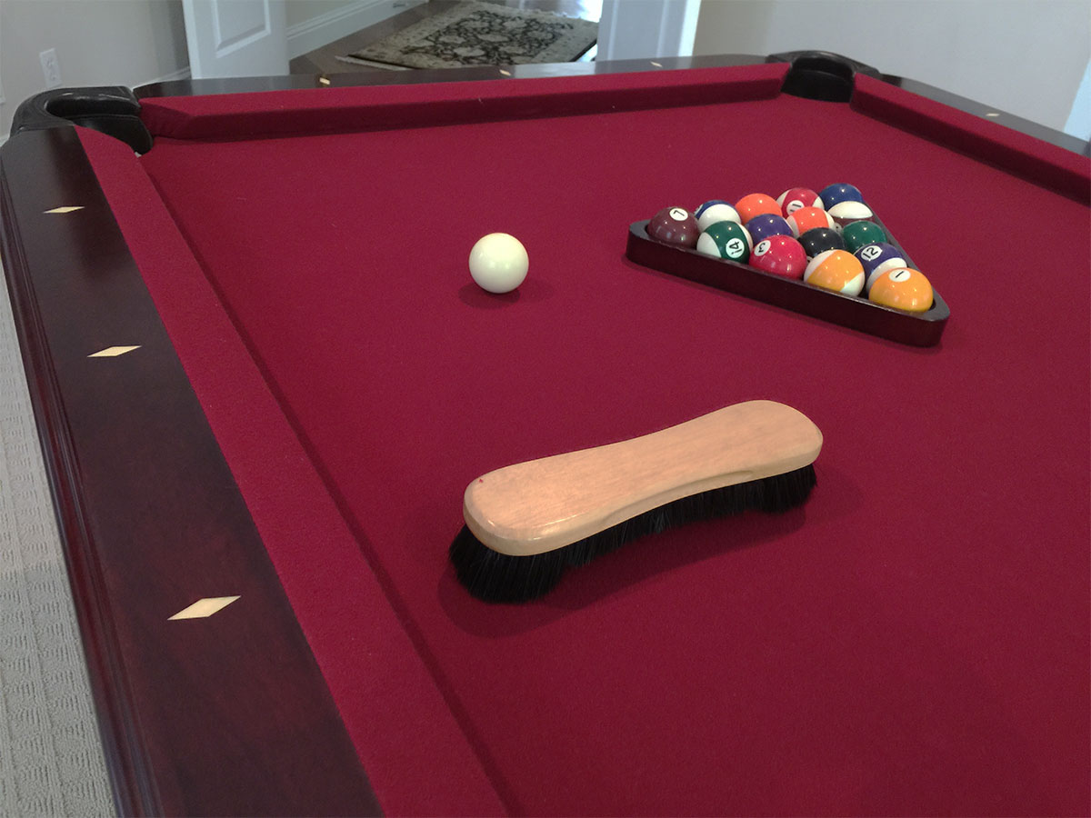 Clean And Brush Pool Table Felt