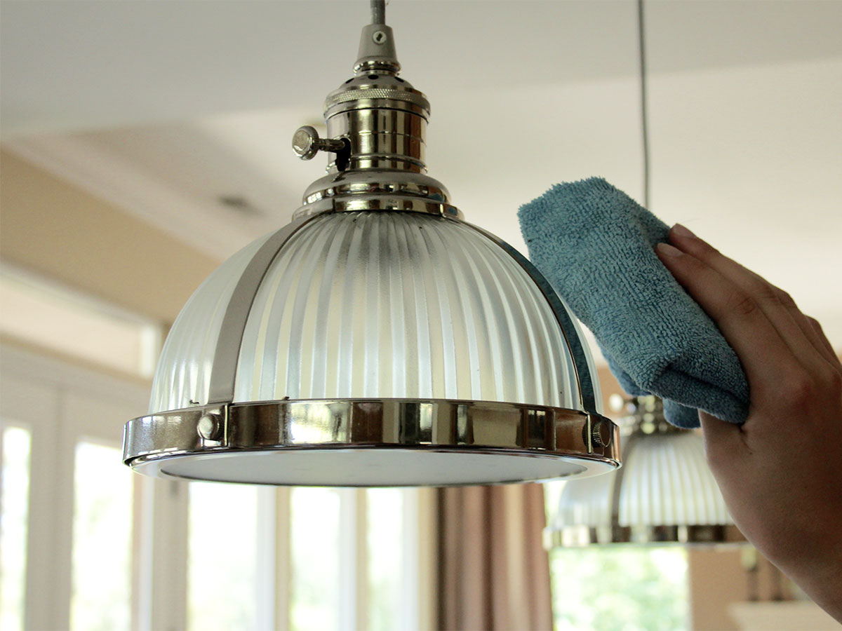 Dust light fixtures