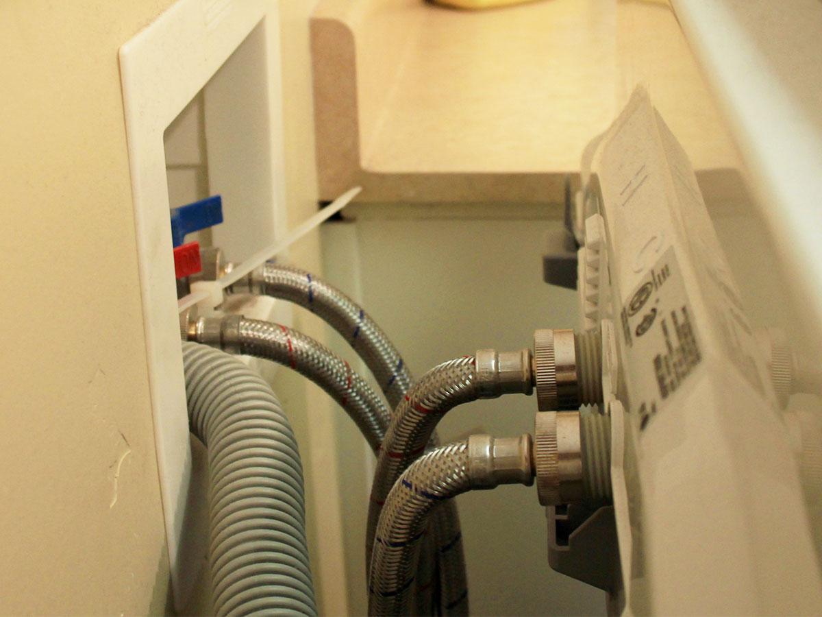 replacing washing machine hose