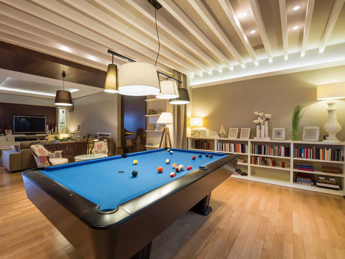 Game Room Furnishings Project Template HomeZada - Budget pool table