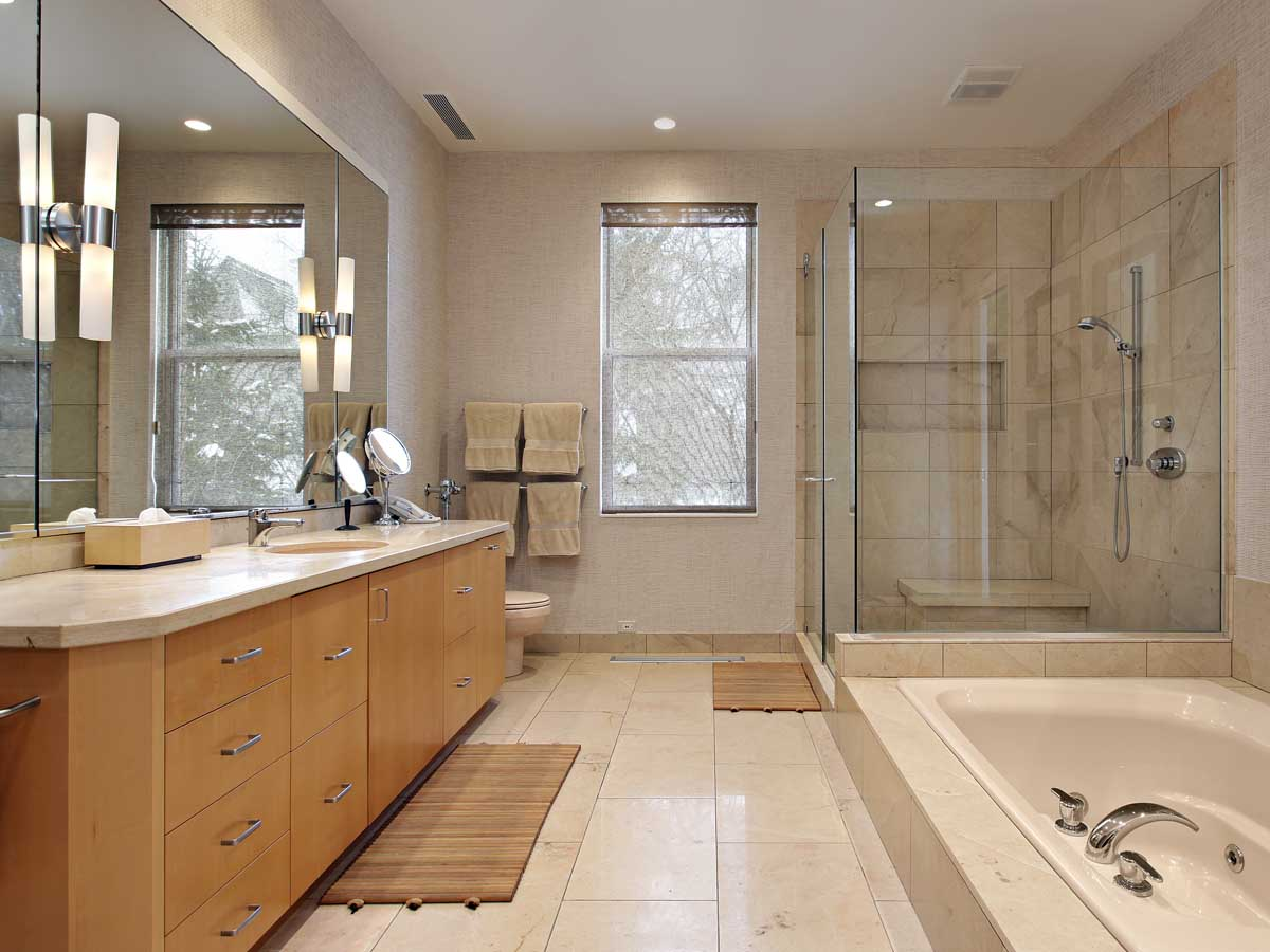Master bathroom remodel project template homezada for Bathroom remodel pics