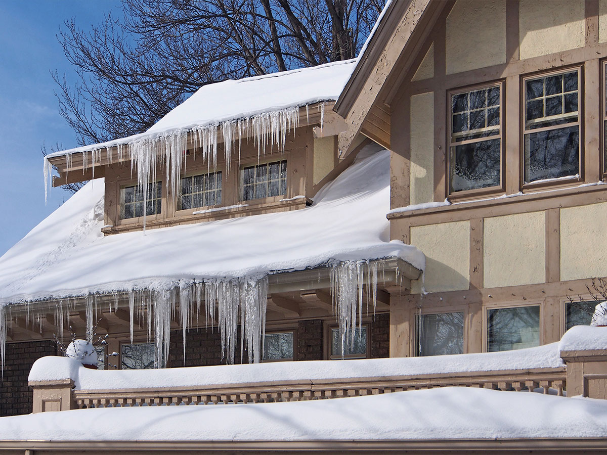 how to remove ice build up in gutters