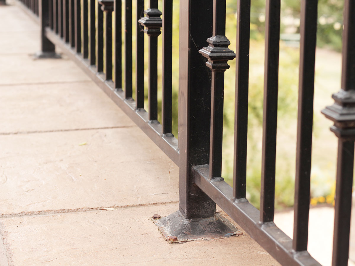 Check exterior railings on balconies and decks