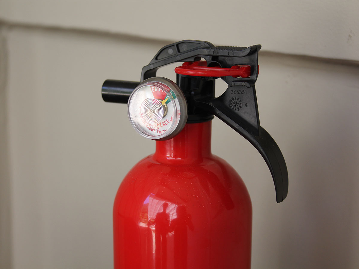 Check fire extinguishers pressure