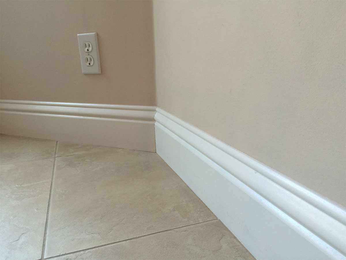 Clean baseboards, doorways and moldings