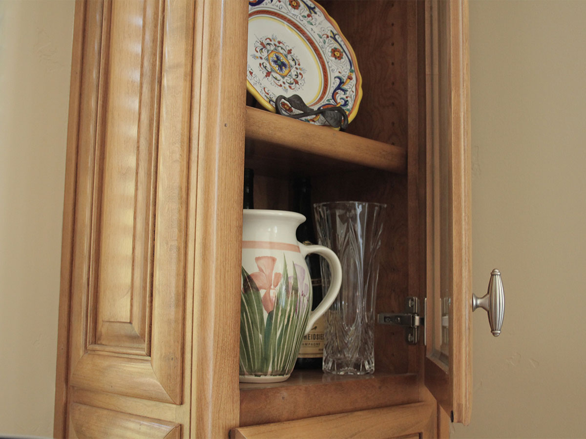 Clean cabinets and interior shelving and doors