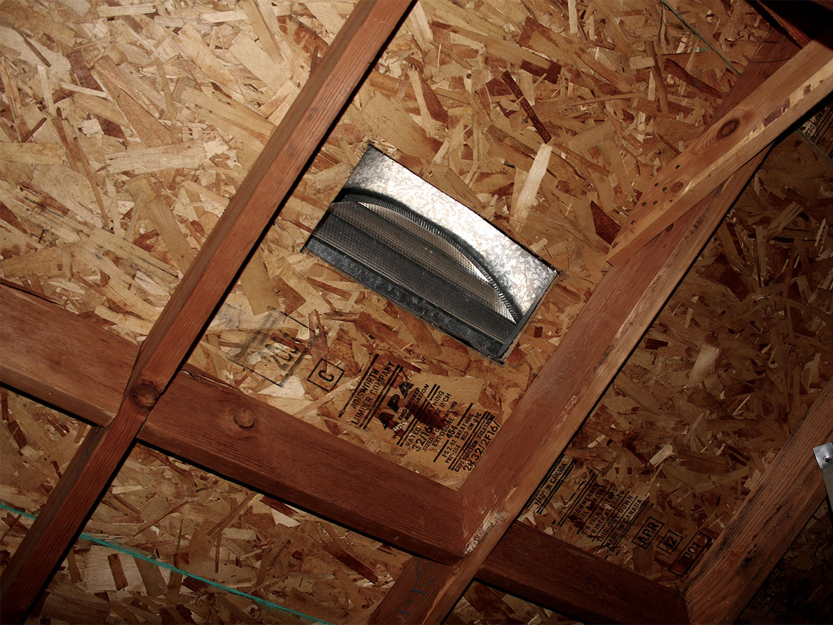 Clean debris in vents in attic and crawl spaces