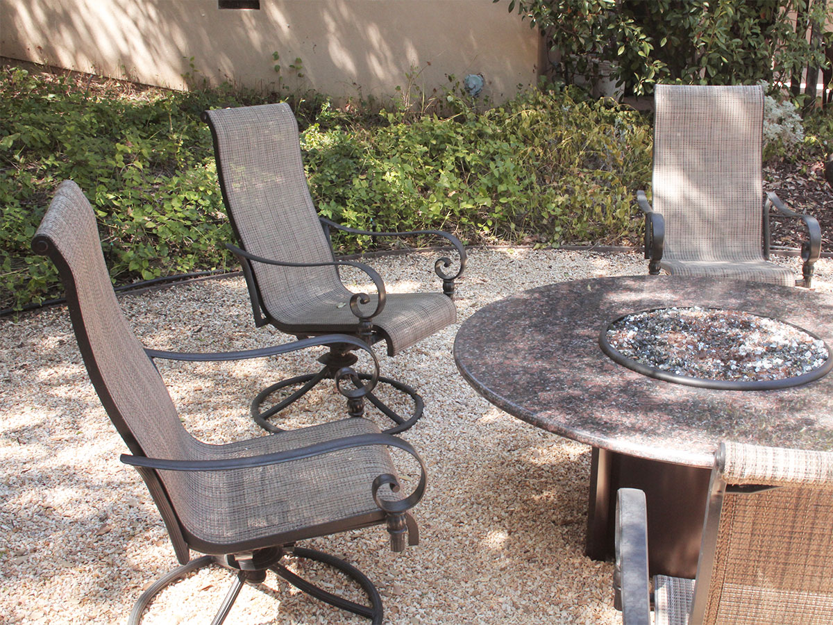 Clean patio furniture for winter storage