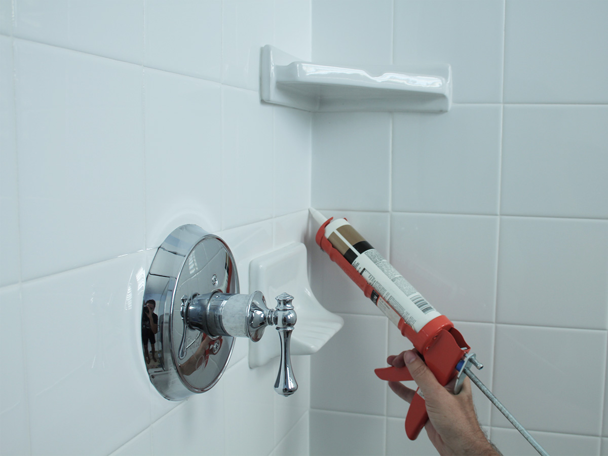 Inspect caulking in bathrooms