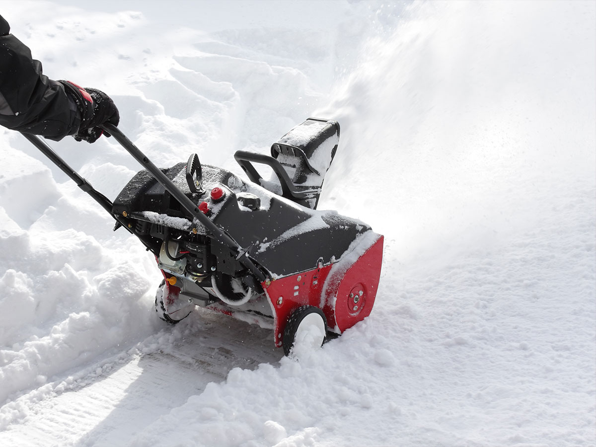 Inspect snow blower to ensure proper operation