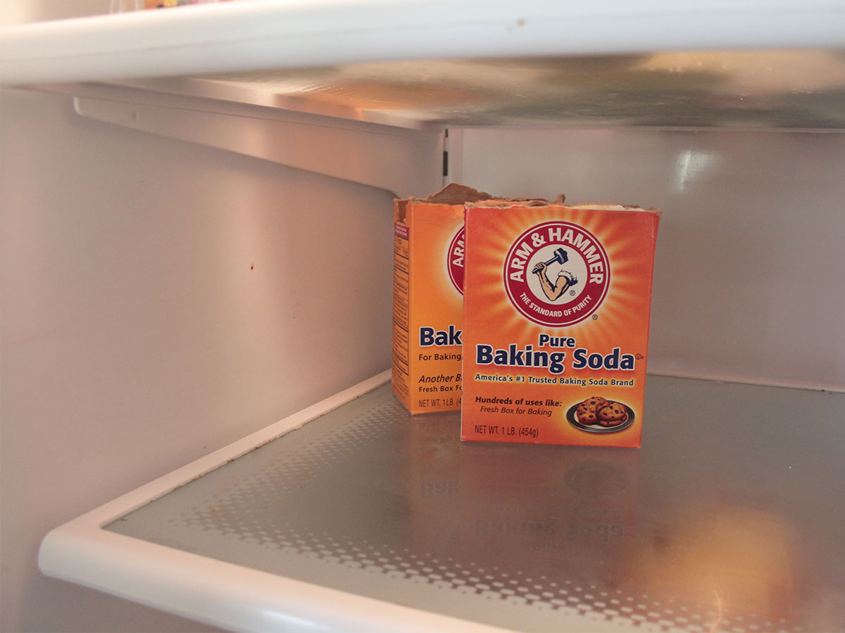 Replace baking soda in refrigerator and freezer
