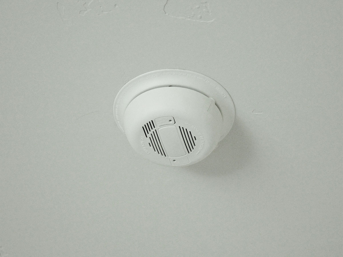 Replace batteries in smoke detectors