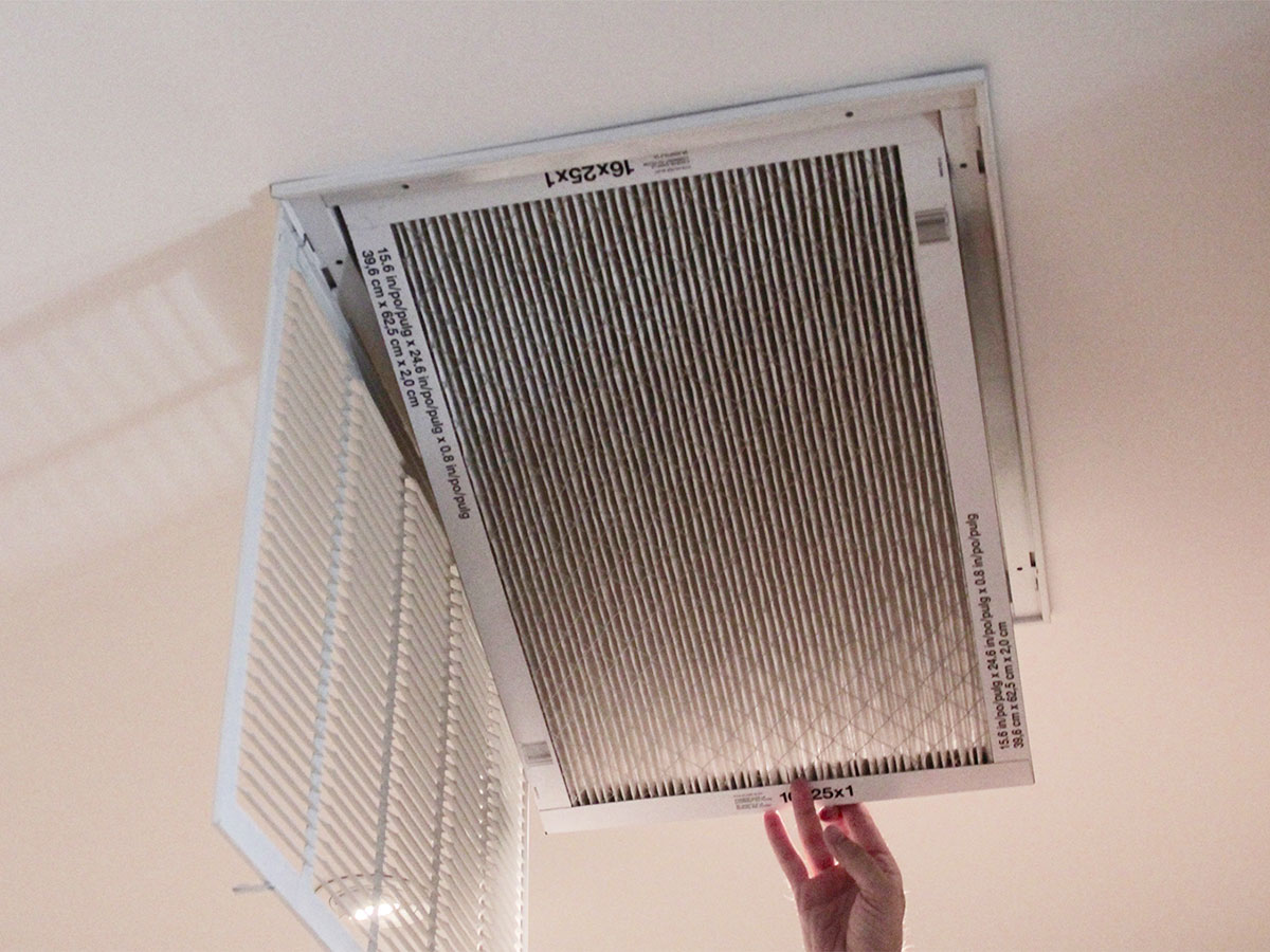 Replace central air conditioning filters