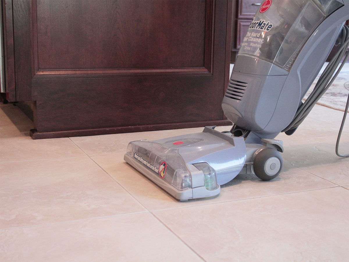 Steam clean tile flooring