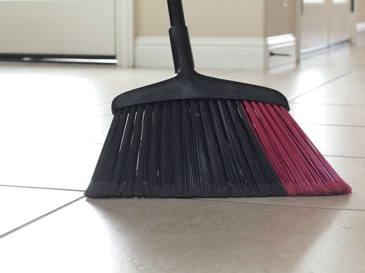 Sweep the kitchen floor