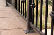 Check exterior railings on balconies and decks Photo