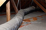 Check forced air ducts in the attic Photo